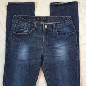 Zara Basic Slim Leg Dark Wash Stretch Jeans Size 8